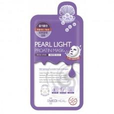 MEDIHEAL PEARL LIGHT Proatin Mask - Маска-лифтинг протеиновая с ЖЕМЧУГОМ 27мл