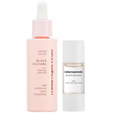 Miriamquevedo BLACK BACCARA Hair Multiplying Scalp Concentrate + Pre-Treatment Exfoliator - Подготовительный набор для кожи головы Омолаживающий концентрат + Эксфолиант с экстрактом розы Блэк Баккара 30мл + 10мл