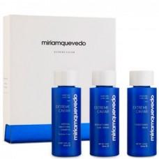Miriamquevedo EXTREME CAVIAR Intensive Anti-Aging Set - Набор для интенсивного омолаживающего ухода (Шампунь + кондиционер + сыворотка-люкс) 3 х 100мл