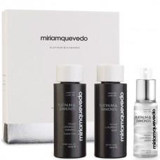 Miriamquevedo PLATINUM & DIAMONDS Global Rejuvenation Set - Набор-люкс для ультраобъема и блеска волос (Шампунь + маска-люкс + спрей-люкс) 2 х 100мл + 50мл