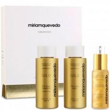 Miriamquevedo SUBLIME GOLD Global Rejuvenation Set - Набор-люкс для интенсивного питания и восстановления (Шампунь + маска + лосьон) 2 х 100 + 50мл