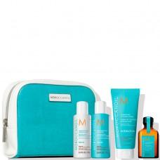 """Moroccanoil Travel Set Kit - Дорожный Набор """"Улучшение волос""""  70 + 70 + 75 + 25мл"""