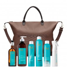 Moroccanoil Stylist Promo Kit DARK - Набор Стилиста для ТЁМНЫХ оттенков 5 товаров + сумка и пульверизатор в подарок