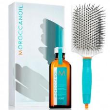 MOROCCANOIL SUMMER LIGHT Set - Набор летний для волос (Масло восстанавливающее для тонких волос + Щетка Лопатка) 100мл + Щётка