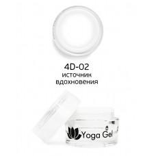 nano professional 4D Yoga Gel - Гель-дизайн 4D-02 источник вдохновения 6мл