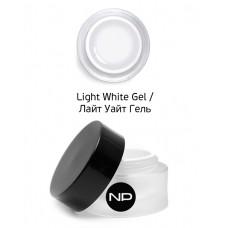 nano professional Gel - Гель цветной для прорисовки линии улыбки Light White Gel 5мл