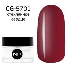 nano professional Gel - Гель классический цветной CG-5701 стеклянное сердце 5мл