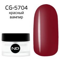 nano professional Gel - Гель классический цветной CG-5704 красный вампир 5мл