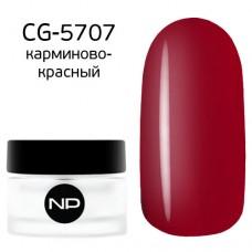 nano professional Gel - Гель классический цветной CG-5707 карминово-красный 5мл