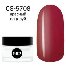 nano professional Gel - Гель классический цветной CG-5708 красный поцелуй 5мл