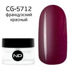 nano professional Gel - Гель классический цветной CG-5712 французский красный 5мл