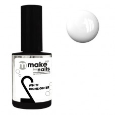 nano professional make up for nails - Гель укрепляющий WHITE HIGHLIGHTER 15мл