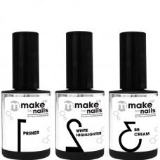 nano professional make up for nails - Набор гелей BASIC SET 15 + 15 + 15мл