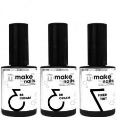 nano professional make up for nails - Набор гелей LOVE SET 15 + 15 + 15мл