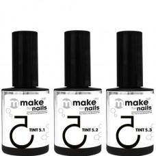 nano professional make up for nails - Набор гелей TINT SET 15 + 15 + 15мл