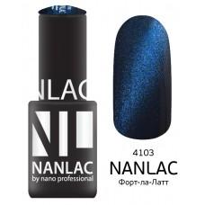 nano professional NANLAC - Гель-лак кошачий взгляд NL 4103 Форт-ла-Латт 6мл