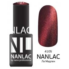 nano professional NANLAC - Гель-лак кошачий взгляд NL 4105 Ла Мадлен 6мл