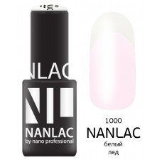 nano professional NANLAC - Гель-лак линия улыбки NL 1000 белый лёд 6мл