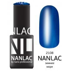 nano professional NANLAC - Гель-лак Мерцающая эмаль NL 2108 зимнее море 6мл