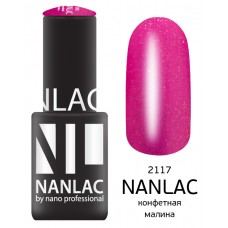 nano professional NANLAC - Гель-лак Мерцающая эмаль NL 2117 конфетная малина 6мл