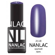 nano professional NANLAC - Гель-лак Мерцающая эмаль NL 2118 хрупкий ирис 6мл