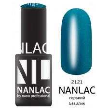 nano professional NANLAC - Гель-лак Мерцающая эмаль NL 2121 горький базилик 6мл