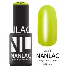 nano professional NANLAC - Гель-лак Мерцающая эмаль NL 2123 мадагаскарская ваниль 6мл