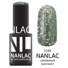 nano professional NANLAC - Гель-лак Металлик NL 2166 серебряный бриллиант 6мл
