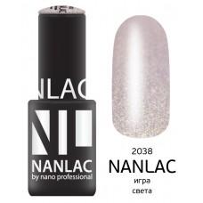 nano professional NANLAC - Гель-лак Металлик NL 2038 игра света 6мл