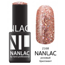nano professional NANLAC - Гель-лак Металлик NL 2168 розовый бриллиант 6мл