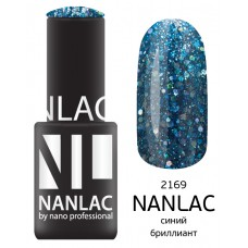 nano professional NANLAC - Гель-лак Металлик NL 2169 синий бриллиант 6мл