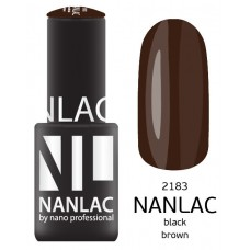 nano professional NANLAC - Гель-лак NL 2183 Black Brown 6мл