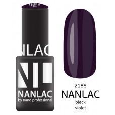 nano professional NANLAC - Гель-лак NL 2185 Black Violet 6мл