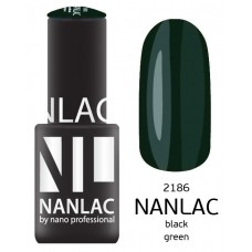 nano professional NANLAC - Гель-лак NL 2186 Black Green 6мл