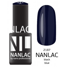 nano professional NANLAC - Гель-лак NL 2187 Black Blue 6мл
