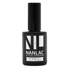 nano professional NANLAC - Гель-лак защитный TOP & GO 15мл