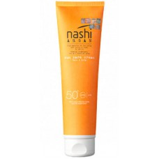 Nashi ARGAN Sun Care Cream SPF50 - Солнцезащитный крем для лица и тела SPF50, 150мл