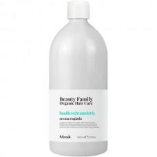 Nook Beauty Family Basilico & Mandorla Crema Rugiada - Крем-кондиционер для сухих и тусклых волос 1000мл