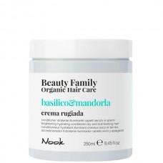 Nook Beauty Family Basilico & Mandorla Crema Rugiada - Крем-кондиционер для сухих и тусклых волос 250мл