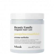 Nook Beauty Family Pompelmo Rosa & Kiwi Crema Sorbetto - Гель-кондиционер восстанавливающий для кудрявых или волнистых волос 250мл