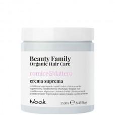 Nook Beauty Family Romice & Dattero Crema Suprema - Восстанавливающий крем-кондиционер для химически обработанных волос 250мл