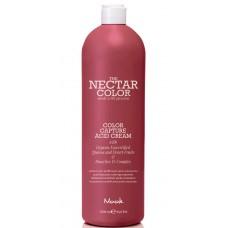 Nook THE NECTAR COLOR CAPTURE ACID CREAM - Крем фиксирующий для волос после окрашивания 1000мл