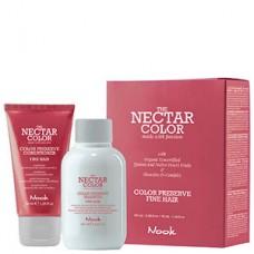 Nook THE NECTAR COLOR PRESERVE KIT FINE - Кондиционер + Шампунь для ухода за окрашенными ТОНКИМИ волосами 50 + 100мл