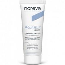 Noreva Aquareva LEGERE Creme Hydratante 24H - Крем лёгкий для сухой и очень сухой кожи Увлажняющий 24 часа, 40мл