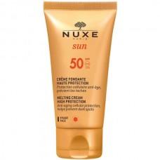 NUXE Sun CREME FONDANT SPF50 - Солнцезащитный крем для лица СЗФ 50, 50мл