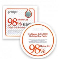 PETITFEE Collagen & Q10 Hydrogel Eye Patch - Патчи для глаз гидрогелевые с коллагеном 60шт