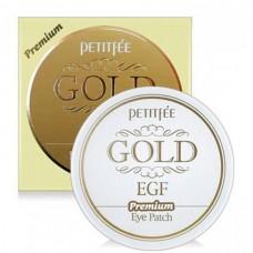 Petitfee GOLD EGF Premium Eye patch - Гидрогелевые патчи для глаз с золотом 60шт