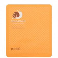 PETITFEE GOLD&SNAIL hydrogel mask - Маска гидрогелевая с золотом и муцином улитки 5 х 50гр