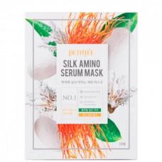 PETITFEE SILK AMINO Serum mask - Маска для лица тканевая с протеинами шелка 25гр
