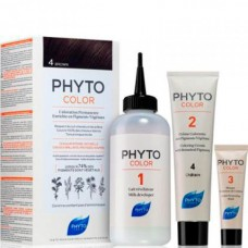 PHYTO COLOR Permanent Coloration 4 Brown - Краска для волос 4 ШАТЕН 50 + 50 + 12мл